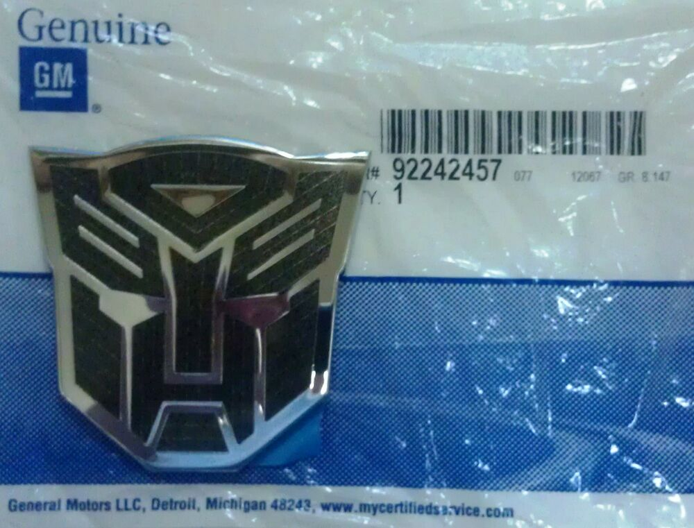 GM# 92242457 Transformers Fender Autobot Emblem for Camaro ...
