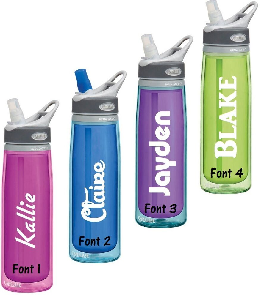 Name Decal For Your Water Bottle Diy Choose Font Amp Decal
