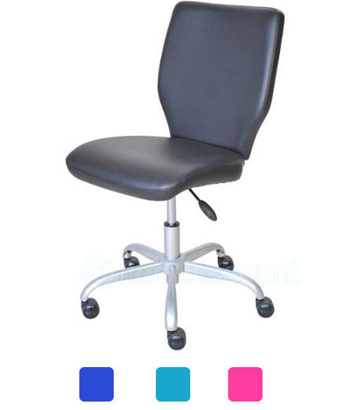 armless mid back office chair computer desk task student 87718