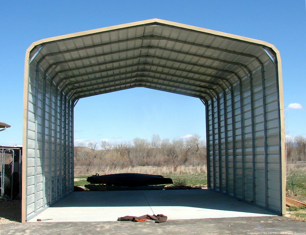Rv Carports Metal Building Kits : Pre fab carport garage sheds rv ports steel buildings