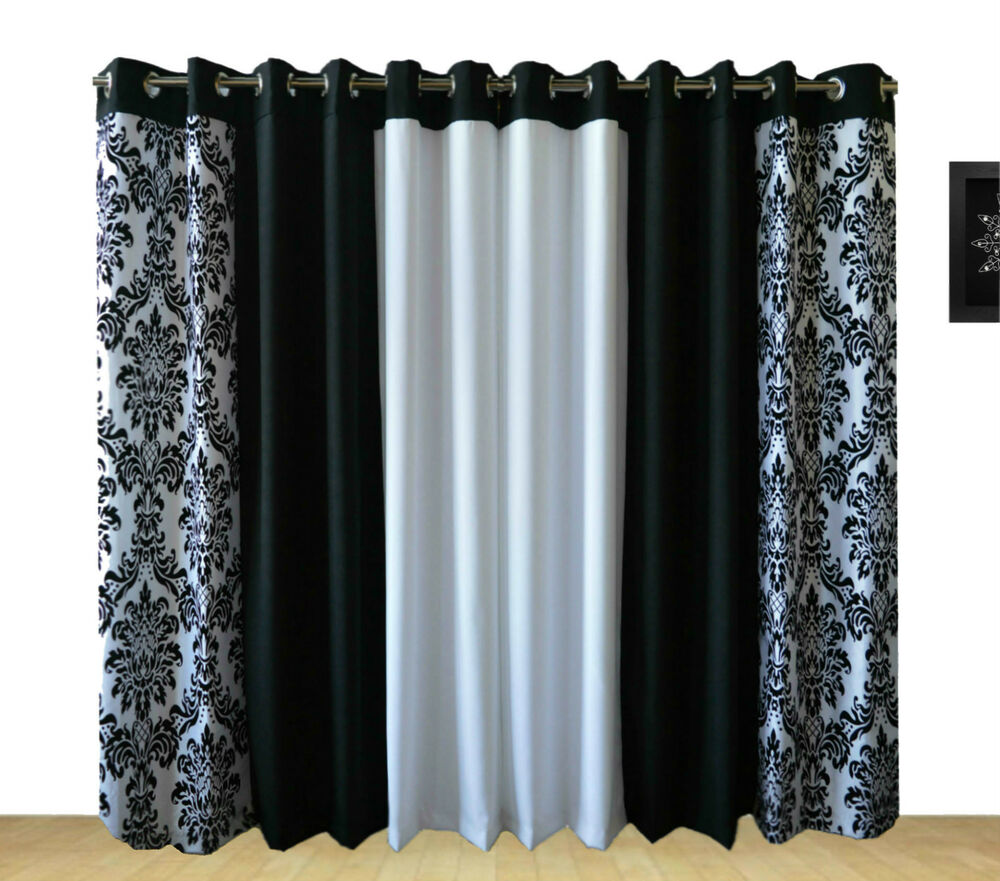 Ring Top Fully Lined Pair Eyelet Ready Made Curtains 3