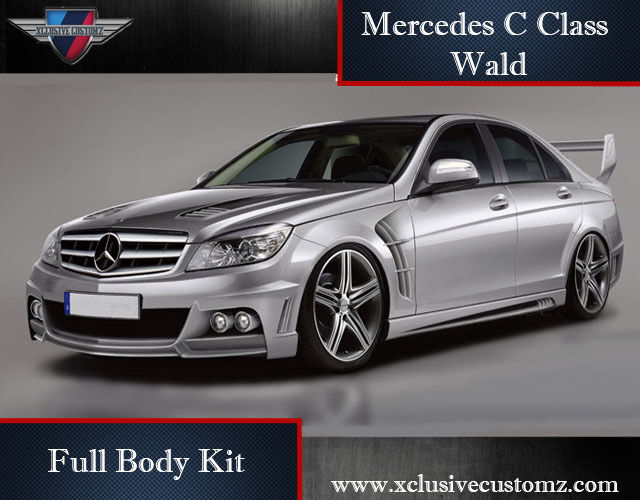mercedes c class w204 wald full body kit ebay. Black Bedroom Furniture Sets. Home Design Ideas