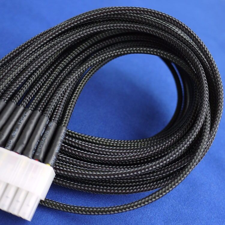 5 meters black high densely 3mm expanding matte braided ... 3 wire molex wire harness wire harness sleeving #7