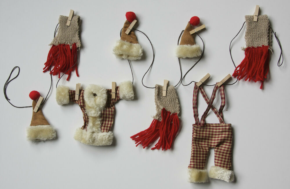 6 Garland Miniature Hanging Clothes Line Fireplace Tree