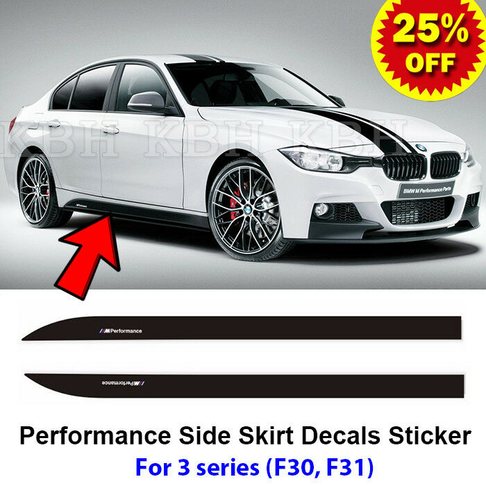 2pcs M Performance Side Skirt Sill Decals Vinyl Sticker