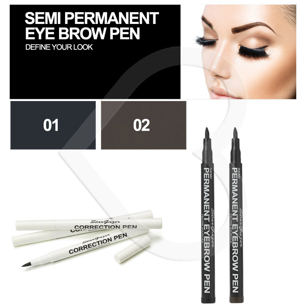 Stargazer Semi Permanent Eye Brow Pen Pencil Make Up Black