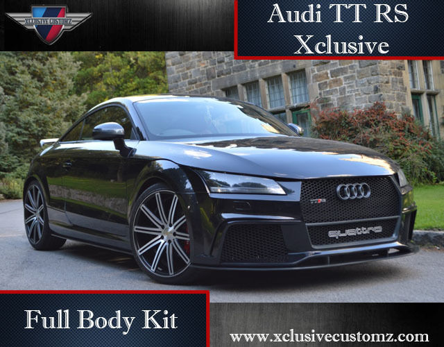 audi tt rs xclusive design full body kit for audi tt mk2 8j to mk3 coupe ebay. Black Bedroom Furniture Sets. Home Design Ideas