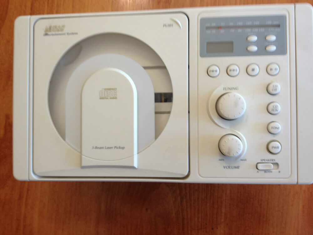 ls4000w rv cd player am fm radio stereo white panel mount rv boat and camper ebay. Black Bedroom Furniture Sets. Home Design Ideas