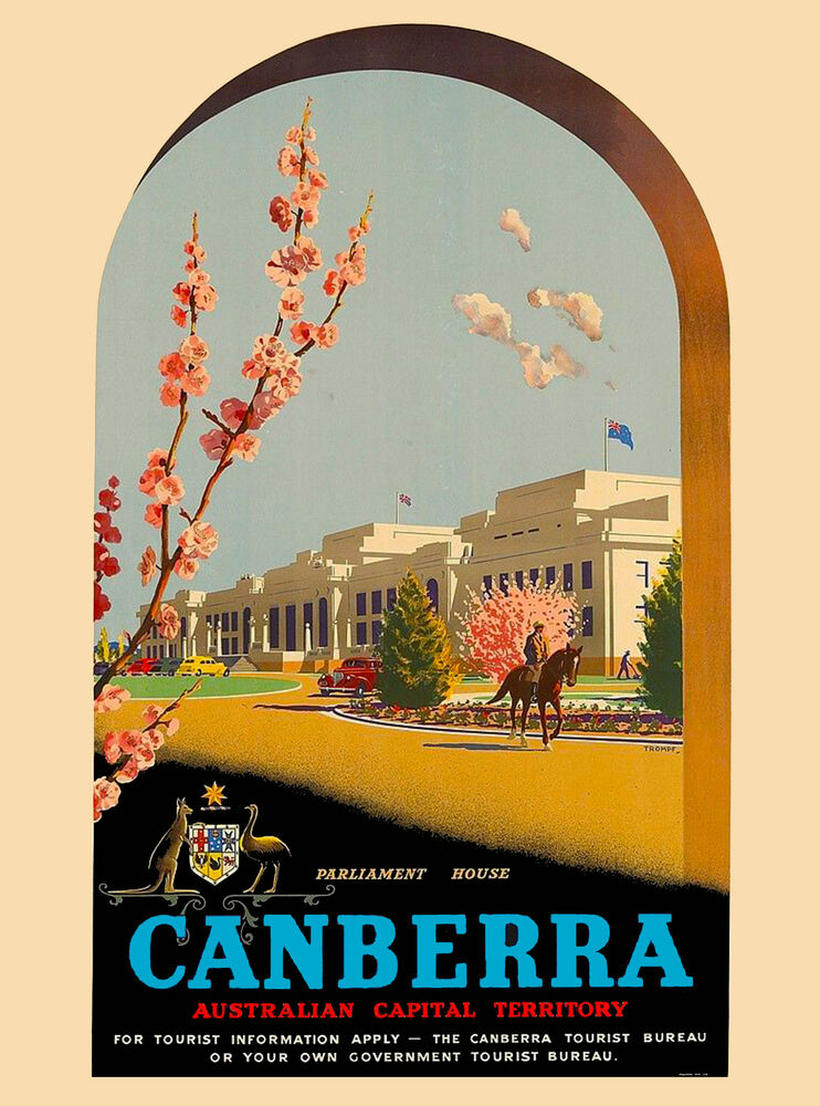 Canberra Australia Australian by Air Vintage Travel ...