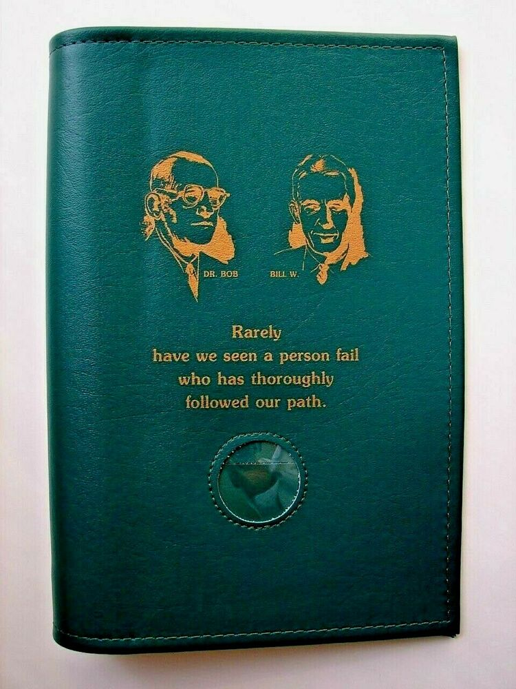Vinyl Cover Art Book ~ Alcoholics anonymous aa big book large print founders