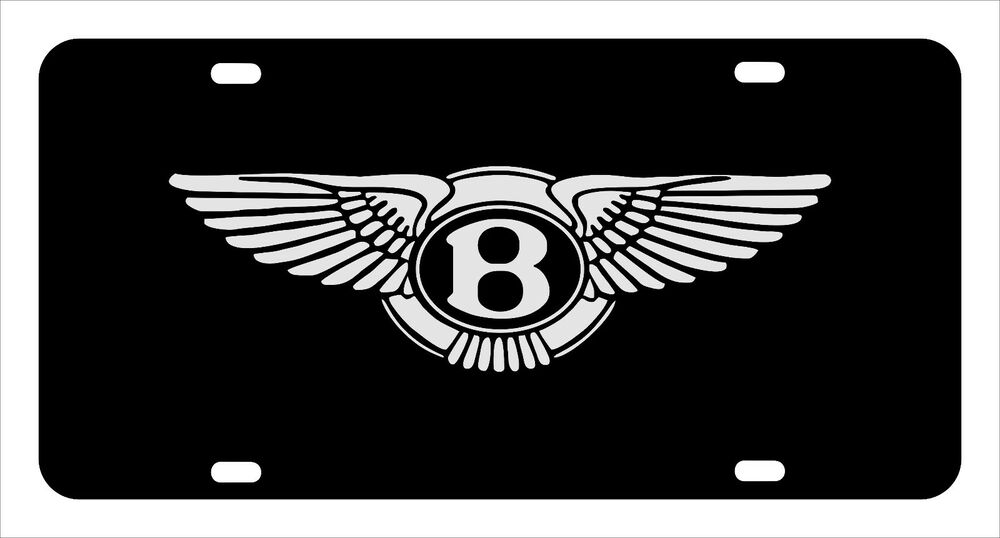 bentley license plate custom made of chrome plated. Black Bedroom Furniture Sets. Home Design Ideas