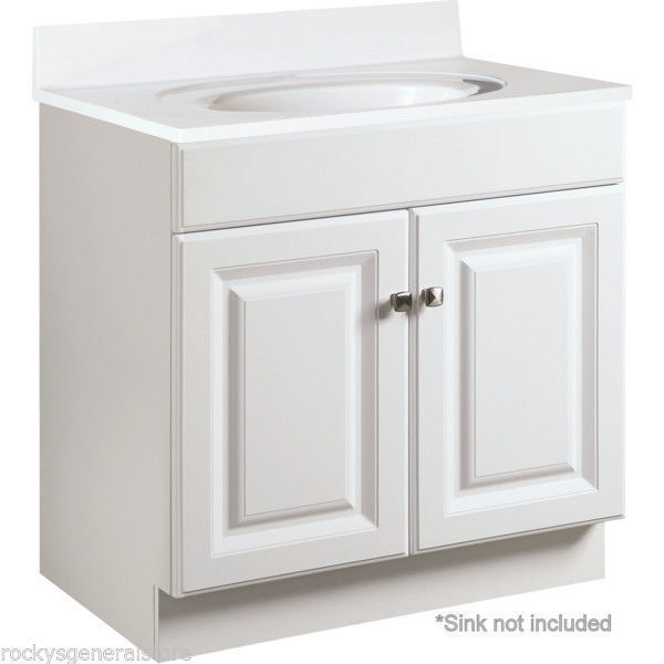Bathroom Vanity Cabinet Thermofoil White 24 Wide X 21 Deep New Fast Delivery Ebay
