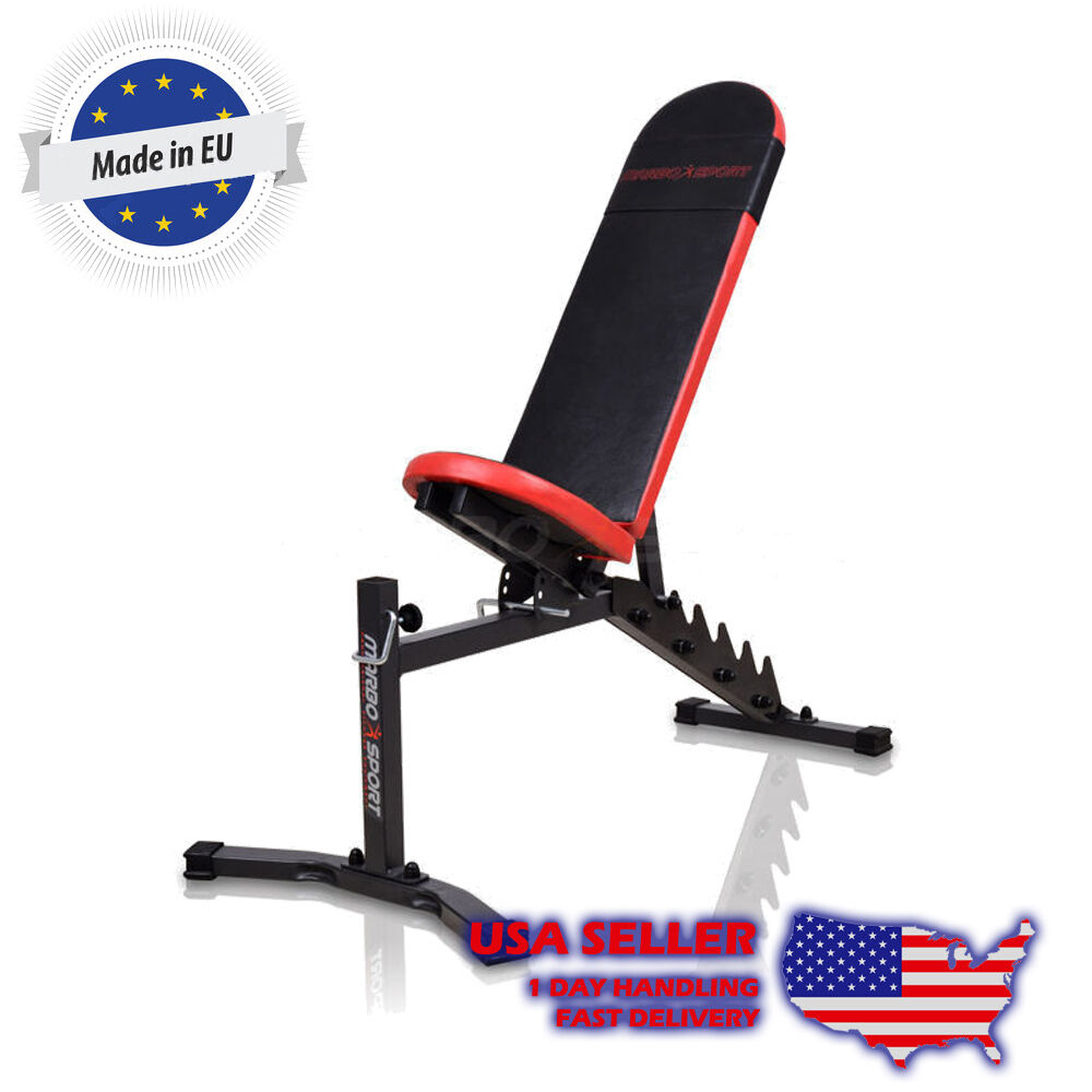 Marbo Sport Lifting Bench Incline Flat Decline Lat Pulldown Leg Preacher Curl Ebay
