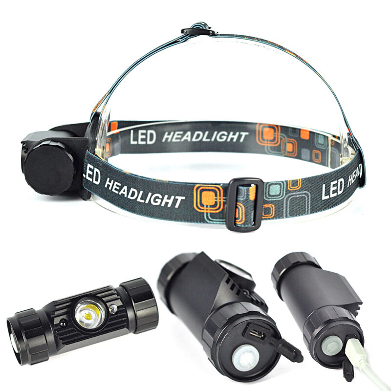 1 Mode LED Infrared Sensors Rechargeable Headlamp ...