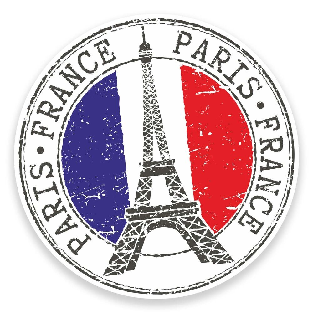 2 x Paris Eiffel Tower France Sticker Car Laptop Decal