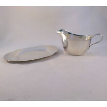 Sterling 2-PC Sauce Boat W/ Underplate Set