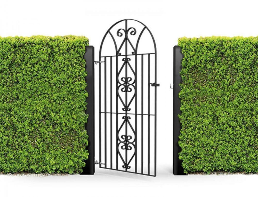 Wrought iron style metal gate windsor bow top mm