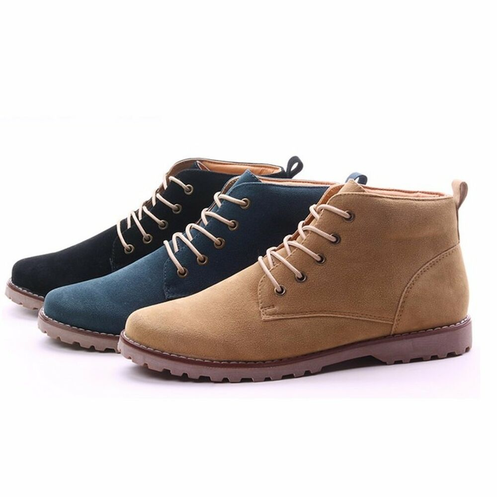 Mens Casual Lace Ankle Boots Loafers Shoes Sneakers