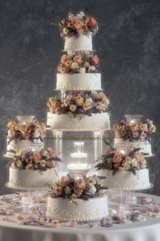 water fountain wedding cake 8 tier cascading wedding cake stand stands set ebay 21676