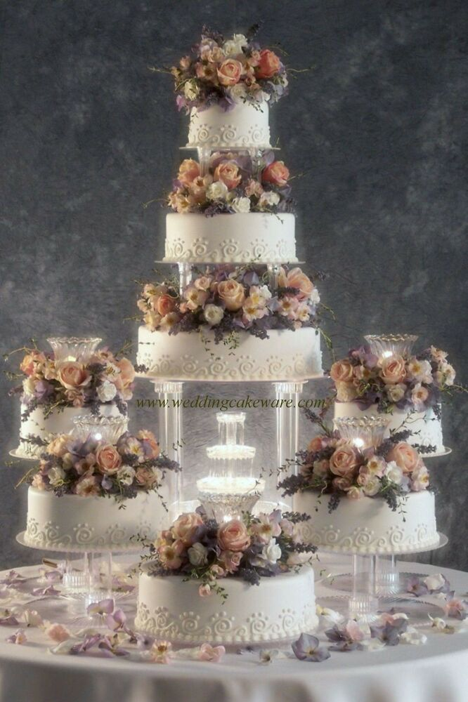 8 Tier Cascading Fountain Wedding Cake Stand Stands Set Ebay