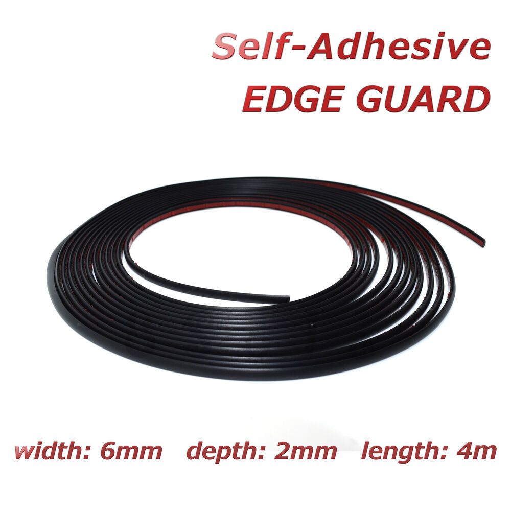 4m black edge guard 6mm self adhesive moulding strip decorative protective trim ebay. Black Bedroom Furniture Sets. Home Design Ideas