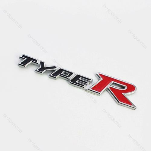 3D Emblem Badge Sticker Decal Metal TYPE-R TYPER Black Red