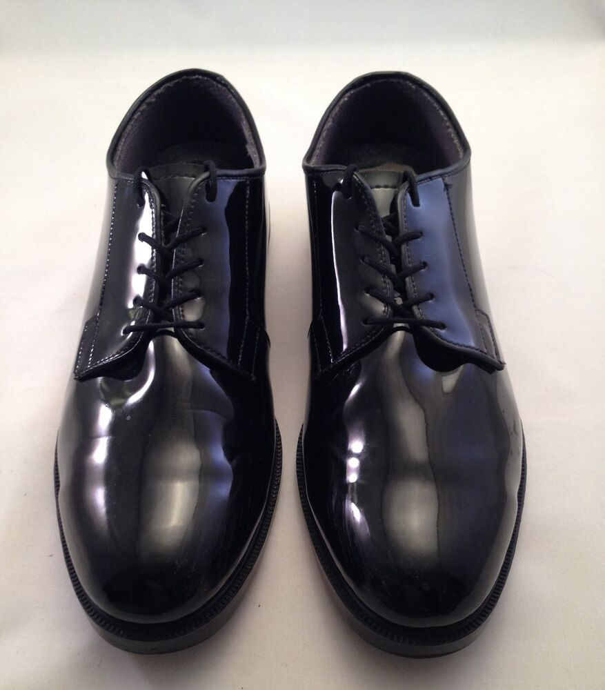 Black Shiny Military Shoes