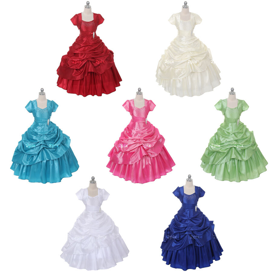 Princess girl dress pageant wedding birthday dance party for Wedding party dress up