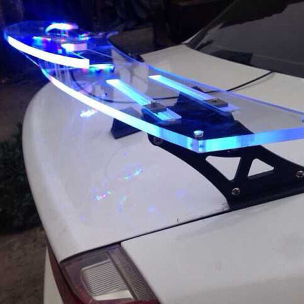 """51""""RGB Light+Color Changing Adjustable Rear Trunk Wing"""