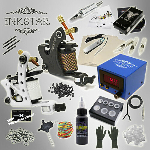 Complete tattoo kit professional inkstar 2 machine for Supplies for tattooing