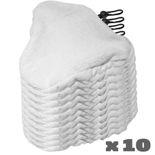 10 H2o Steam Mop Pads Replacement Microfiber Cleaner