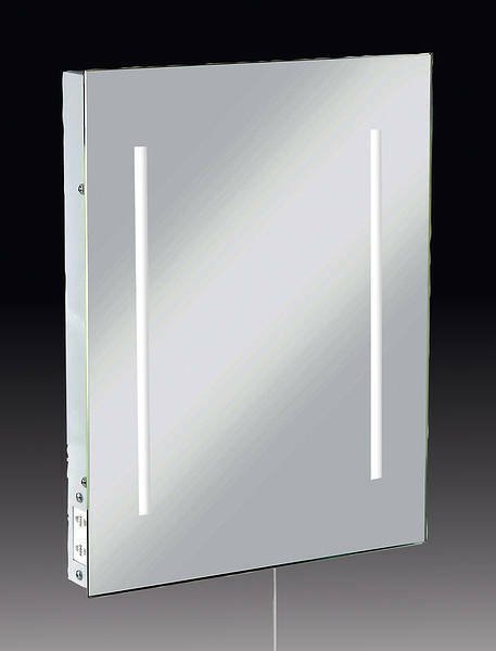 illuminated bathroom mirror with dual shaver socket rctm2led ebay