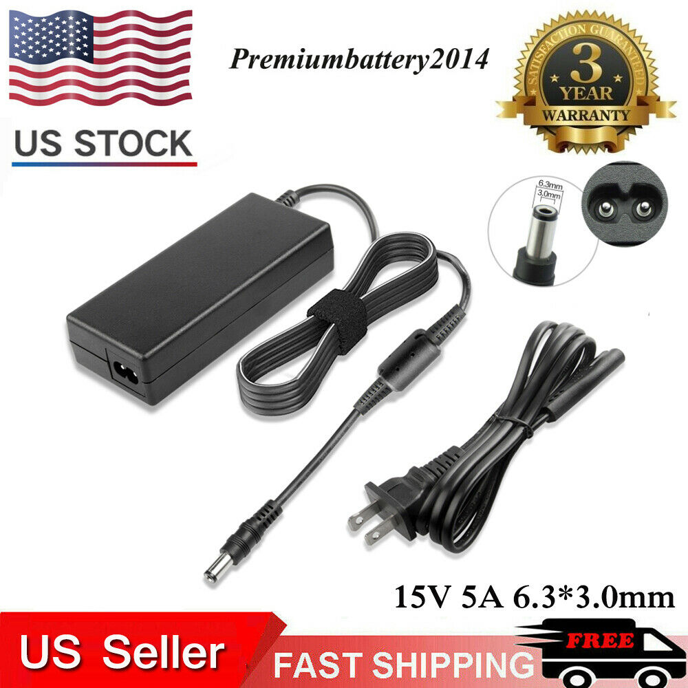 Power Supply/Charger Cord for Toshiba Laptop 15V 5A ...