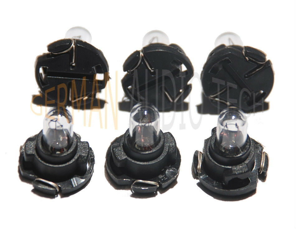 6x SAAB LIGHT BULBS 900 93 95 SID1 SID2 ACC CLIMATE ...