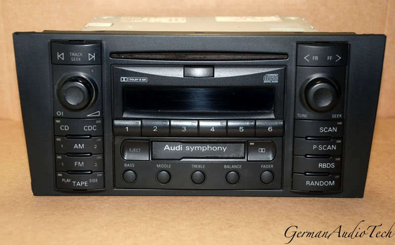 audi symphony cd player radio stereo a6 s6 avant c5 bose. Black Bedroom Furniture Sets. Home Design Ideas