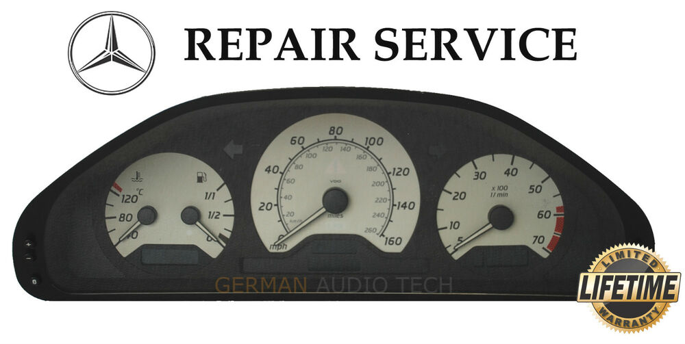 Mercedes benz c230 c240 c280 c36 w202 instrument cluster for Mercedes benz cluster repair