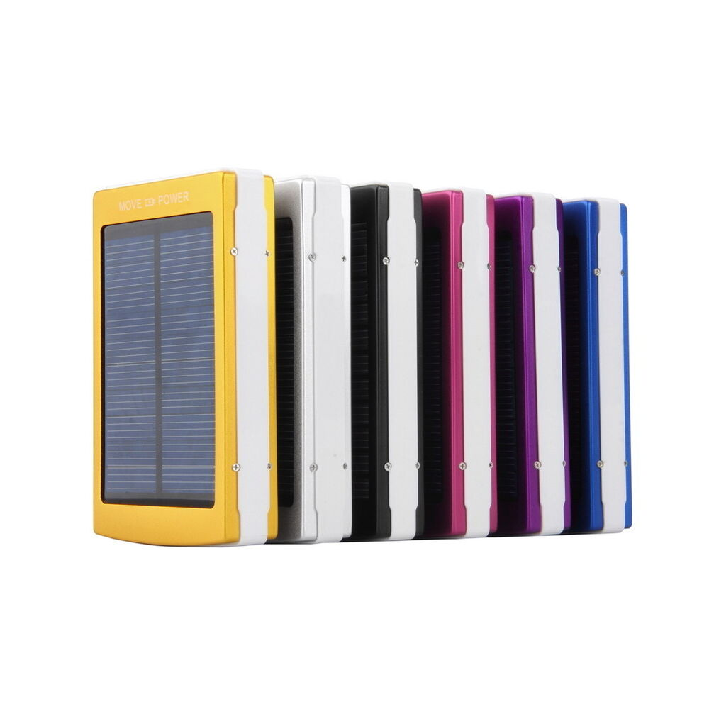 ... USB Portable Solar Battery Charger Power Bank for Cell Phone | eBay