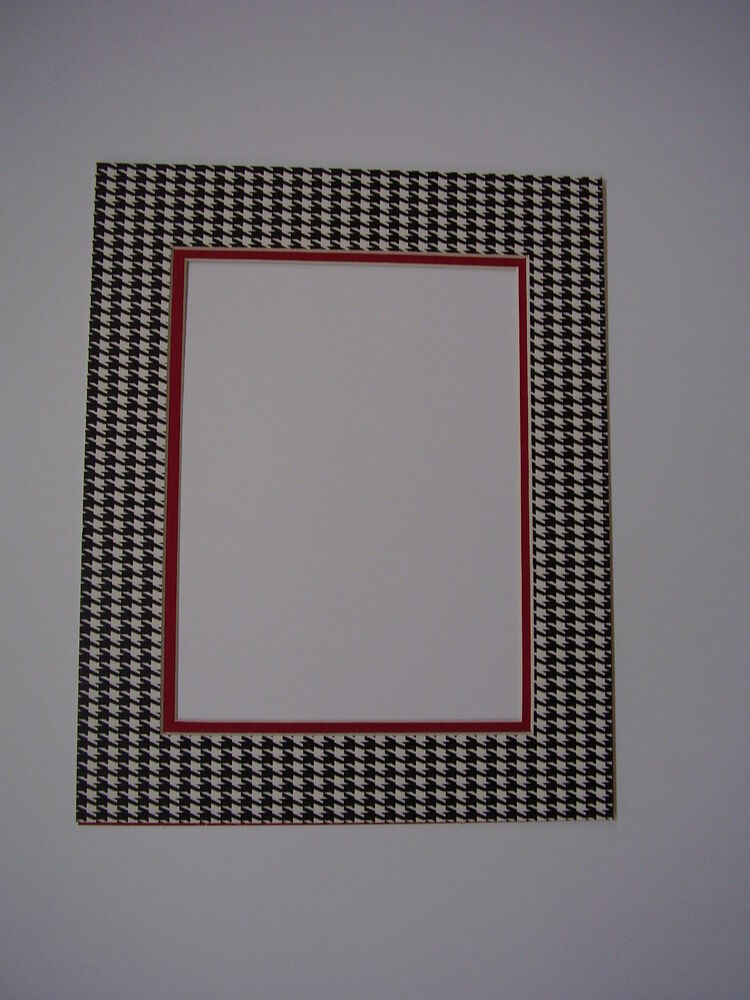 picture frame mat 20x24 for 16x20 photo alabama crimson tide houndstooth and red ebay. Black Bedroom Furniture Sets. Home Design Ideas