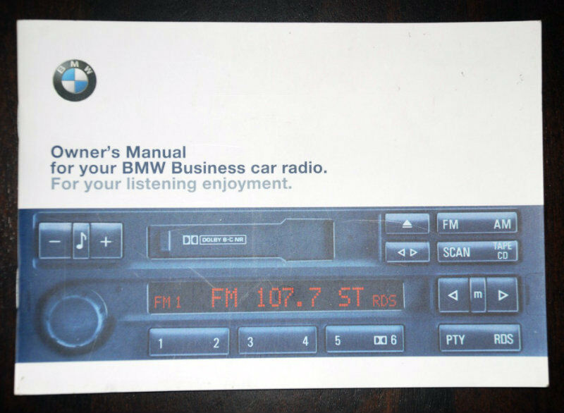bmw business rds radio stereo cassette c33 c43 z3. Black Bedroom Furniture Sets. Home Design Ideas
