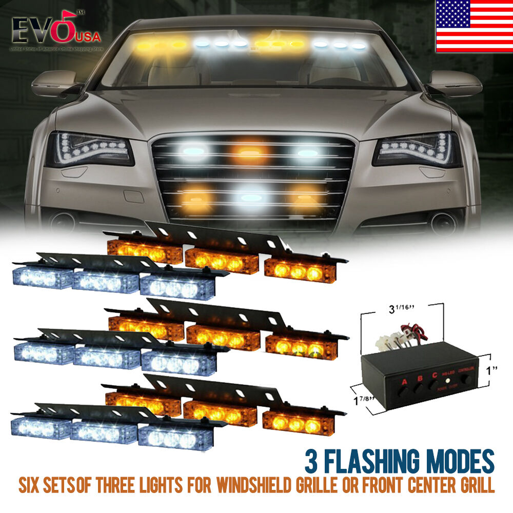 54 led car truck strobe emergency warning light for deck. Black Bedroom Furniture Sets. Home Design Ideas