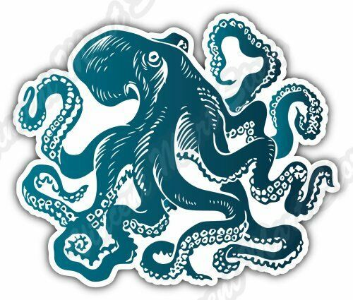Octopus Sprut Poulpe Ocean Sea World Car Bumper Vinyl