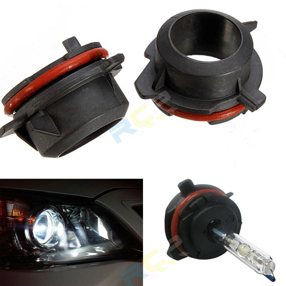 H7 Hid Xenon Headlights Bulbs Adapters Holder For Bmw E39