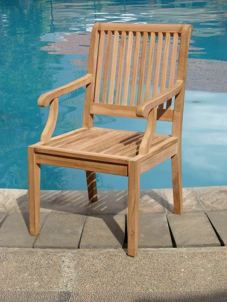 Sack A Grade Teak Wood Dining Arm Chair Outdoor Garden