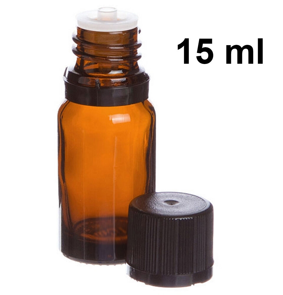 Essential Oil Amber Glass Bottles With Orifice And Cap 15
