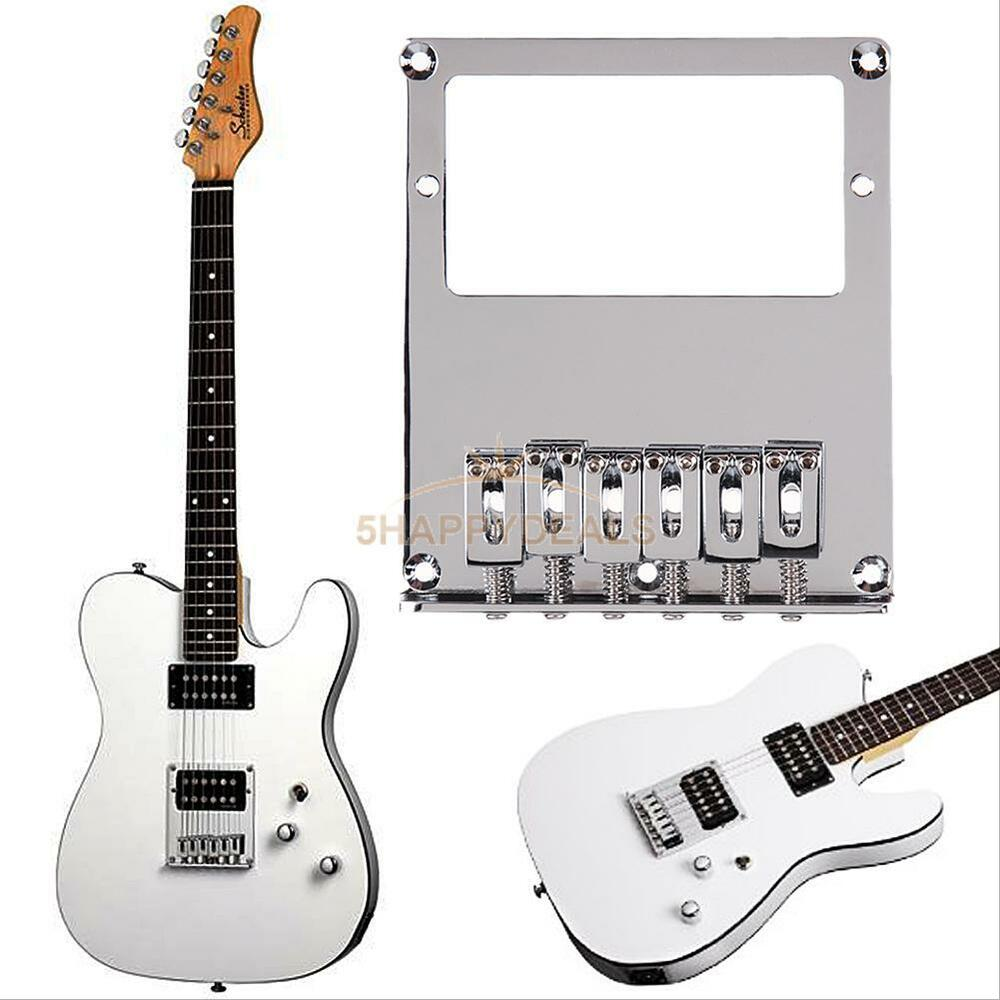 tele humbucker electric guitar bridge 6 square saddle for telecaster guitar new ebay. Black Bedroom Furniture Sets. Home Design Ideas