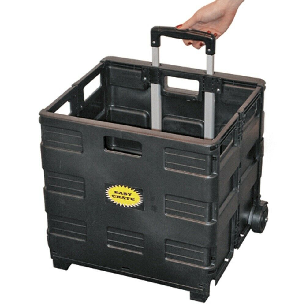 easy crate rolling cart mobile storage caddy ebay