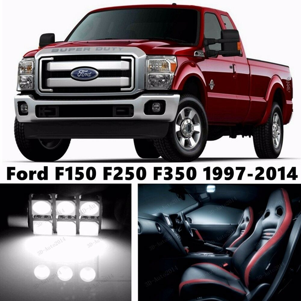 11pcs Led Xenon Whit Light Interior Package Kit For Ford F150 F250f350 1997 2014 Ebay