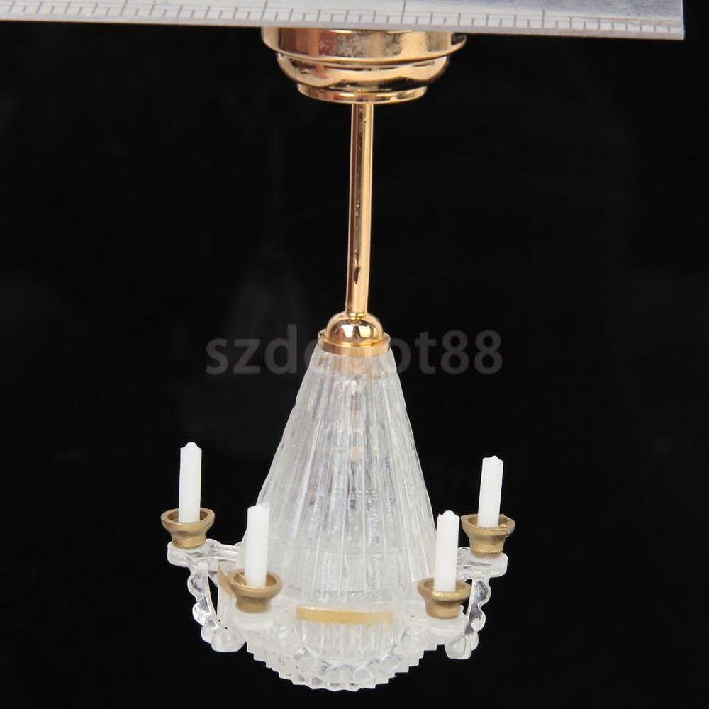 Dollhouse Miniature LED Chandelier Ceiling Lighting Lamp 5