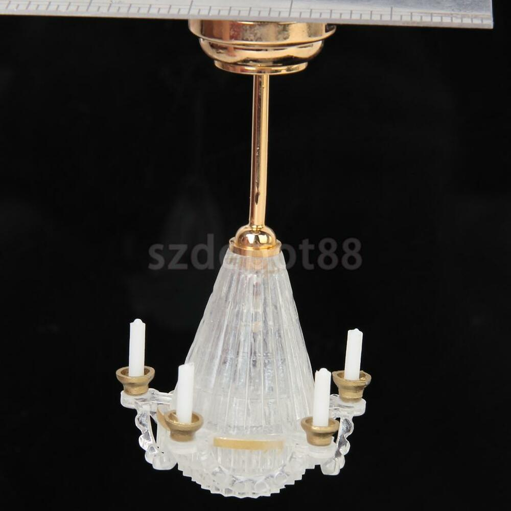 Dollhouse Miniatures Battery Lights: Dollhouse Miniature LED Chandelier Ceiling Lighting Lamp 5