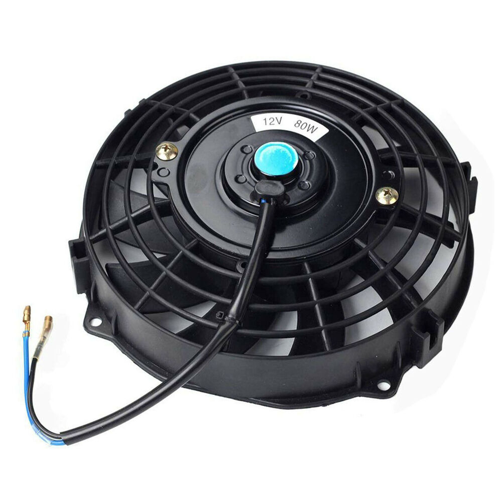 Radiator Cooling Fans : Quot inch universal slim fan push pull electric radiator